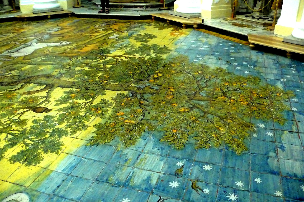 Mosaic Floor #6 Apple tree