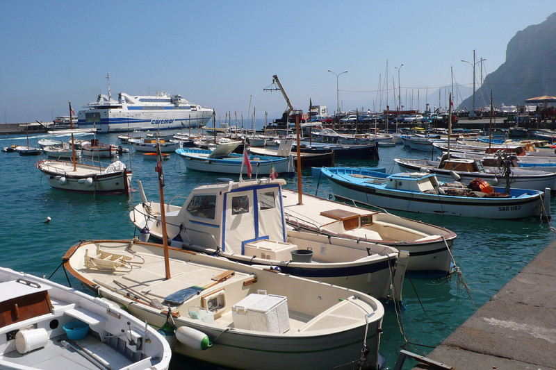 Boats in Capri harbor