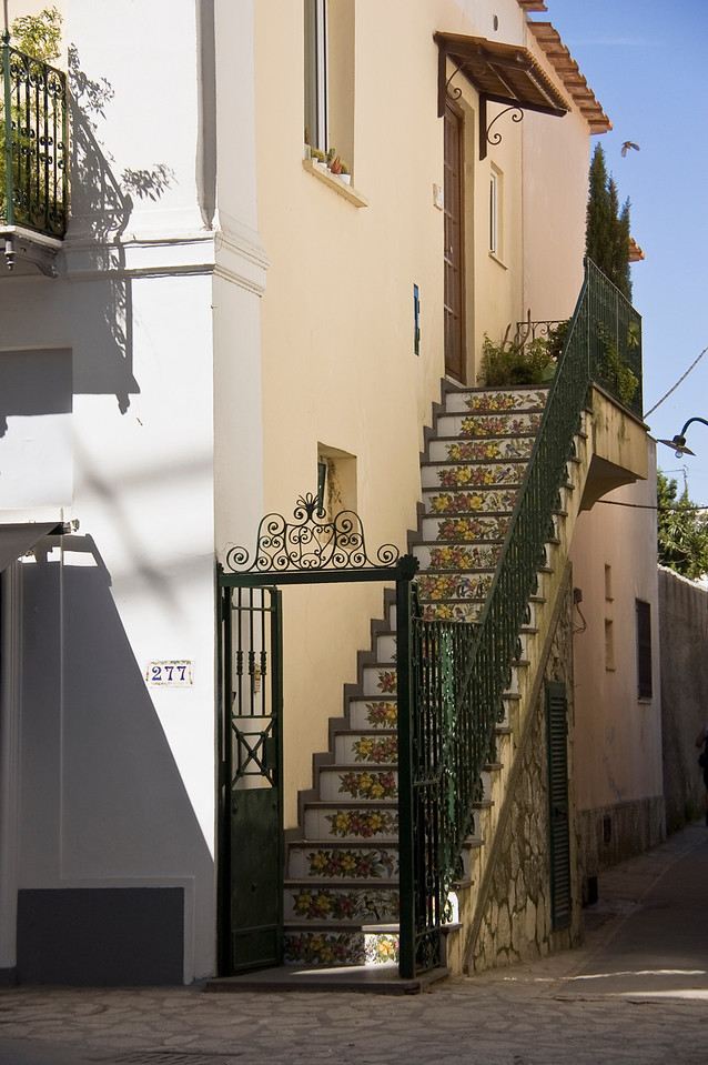 Tile stairway, Capri