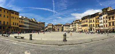 Santa Croce square, Firenze, Italy