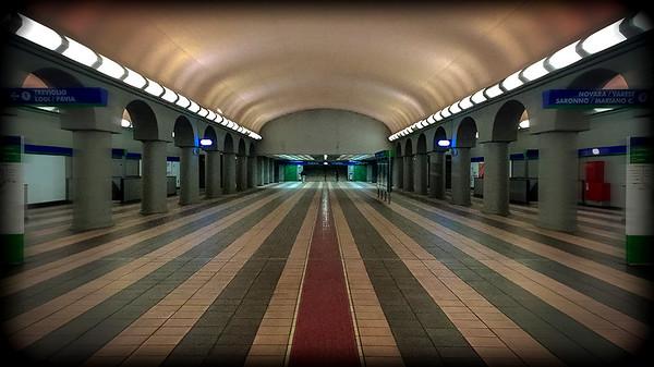 Dateo underground station, Milan, Italy