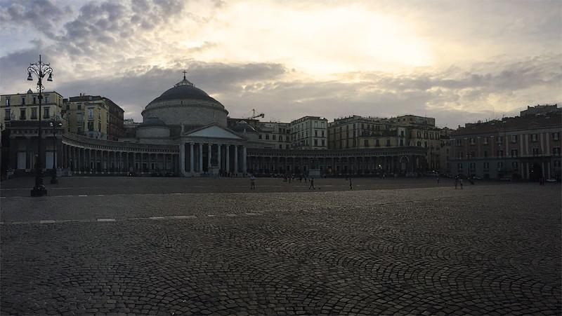 Plebiscito square, Napoli, Italy
