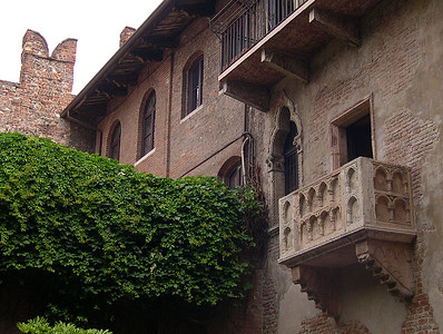 The Romeo and Juliet balcony, Verona, Italy