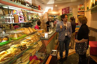 Francesco and MA at the coffee shop