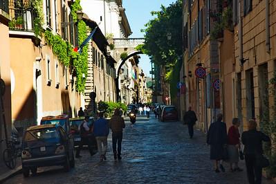 Rome historic district street
