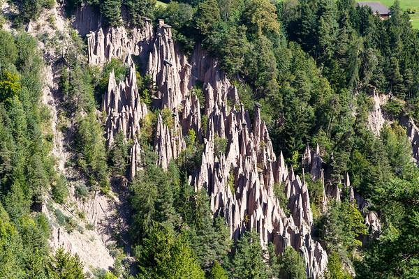 Renon's famous earth pyramids