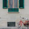 Green Shutters Red Bike