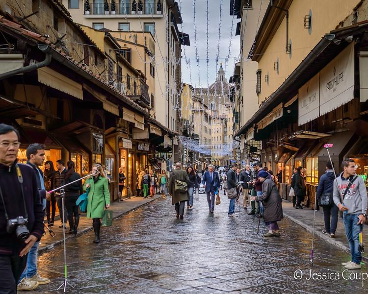 Walking Across Ponte Vecchio