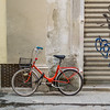 Red Bike with Graffiti