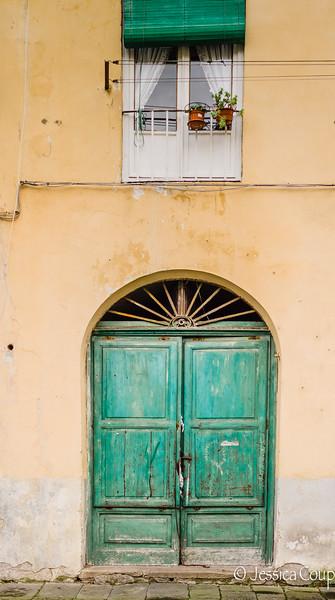 Old Green Doorway