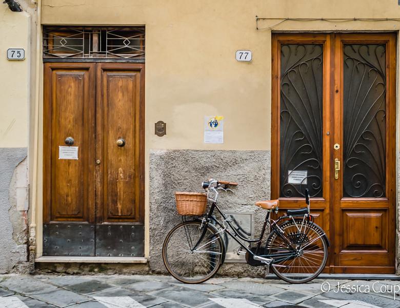 Bike Between Two Doorways