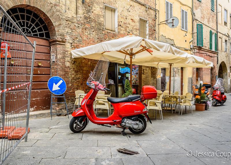 Red Vespa Parking