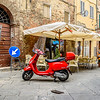 Red Vespa Parking