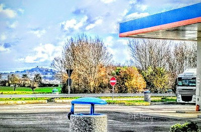 """""""Under the Tuscan Rest Stop Awning"""" - The lesser known, and much less romantic version of the movie. :)"""