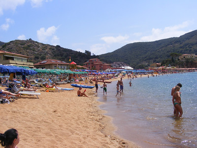 Campese beach on the island of Giglio.