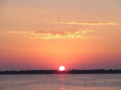 Sunset over the lagoon, Orbetello.