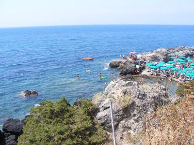 The beach at Talamone.