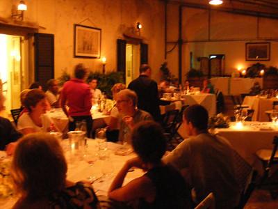 First dinner at La Parrina