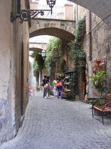 Orvieto street scene.