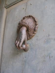 door knocker in Orvieto