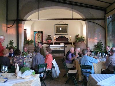 1st dinner at La Parrina