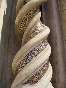 detail of the column of the duomo in Orvieto