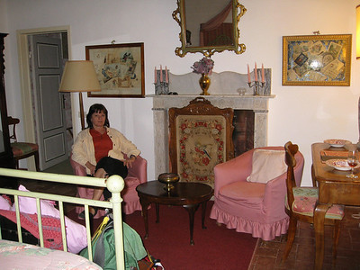 our room at La Parrina stitchery from the 1800's