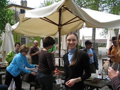 wine reception  at La Parrina