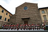 Musicians on the steps of the Basilica Francesco for the battle proclamation