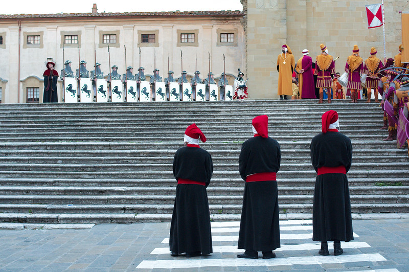 Blessing of the knights at the Arezzo Cathedral