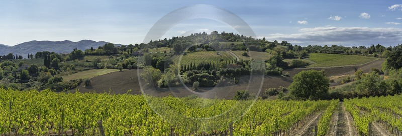 Casole D Elsa Chianti Tuscany Winery Panoramic Viepoint Stock Images Fine Art Landscape Sale - 022825 - 14-09-2017 - 23385x7932 Pixel