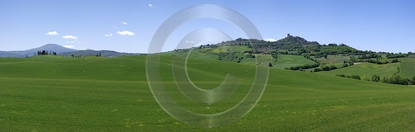 Castiglione Orcia Hill Huegel Tuscany Italy Toscana Italien Western Art Prints For Sale View Point - 013005 - 17-05-2012 - 13072x4166 Pixel