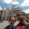 Emilie and Yann outside the Florence Catheral Baptistery