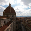 View of the famous dome from the cathedral's bell tower