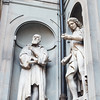 Famous Italians surround the Uffizi Museum