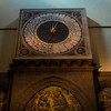 A clock inside the Florence Cathedral