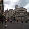 Outside the cathedral baptistery