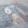 Chalk drawing on a Florence street
