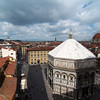 View of the baptistery from the cathedral's bell tower