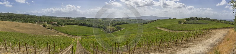 La Strolla Tuscany Winery Panoramic Viepoint Lookout Hill Barn Grass What Is Fine Art Photography - 022761 - 12-09-2017 - 34954x8010 Pixel