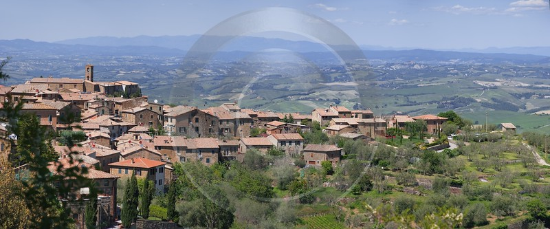 Montalcino Hill Huegel Tuscany Italy Toscana Italien Spring Art Photography For Sale - 013023 - 17-05-2012 - 9744x4055 Pixel