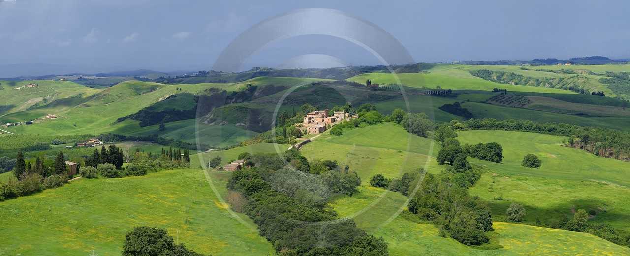 Montecontieri Tuscany Italy Toscana Italien Spring Fruehling Scenic Photo Images Modern Wall Art - 014075 - 20-05-2013 - 16947x6882 Pixel