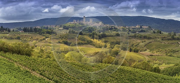 Montefalconi Tuscany Winery Panoramic Viepoint Lookout Hill Autumn Landscape Photography - 022776 - 16-09-2017 - 16336x7539 Pixel