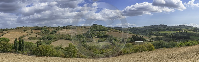 Montespertoli Tuscany Winery Panoramic Viepoint Lookout Hill Autumn Prints Island - 022875 - 12-09-2017 - 24839x7732 Pixel