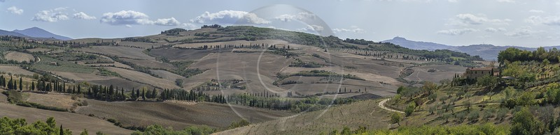 Pienza Tuscany Winery Panoramic Viepoint Lookout Hill Autumn Barn Rock Fine Art America Nature - 022852 - 13-09-2017 - 29281x7106 Pixel