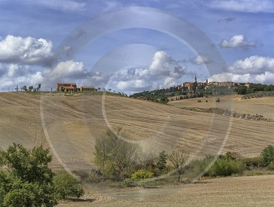Pienza Tuscany Winery Panoramic Viepoint Lookout Hill Autumn Barn Art Printing Modern Art Print - 022851 - 13-09-2017 - 12609x9538 Pixel