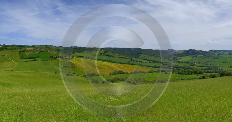 Pienza Tuscany Italy Toscana Italien Spring Fruehling Scenic Senic What Is Fine Art Photography - 014123 - 22-05-2013 - 12380x6508 Pixel