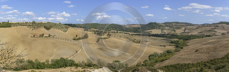 Pienza Tuscany Winery Panoramic Viepoint Lookout Hill Autumn What Is Fine Art Photography - 022847 - 13-09-2017 - 23881x7585 Pixel