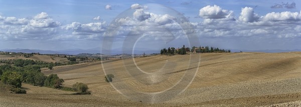 Pienza Tuscany Winery Panoramic Viepoint Lookout Hill Autumn Fine Art Photographer River - 022757 - 13-09-2017 - 28952x10319 Pixel
