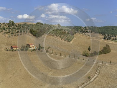 Pienza Tuscany Winery Panoramic Viepoint Lookout Hill Autumn Summer Nature Modern Art Print River - 022845 - 13-09-2017 - 18311x13851 Pixel